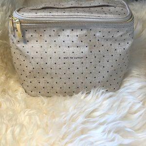 NWOT•Kate Spade Polka Dot Cosmetic Bag